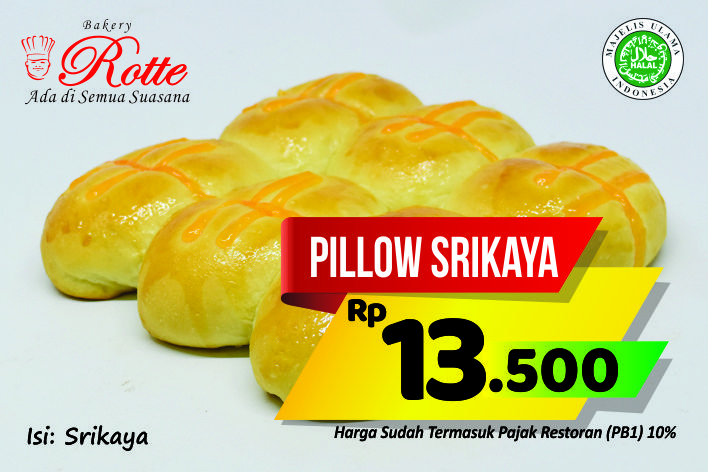 Pillow Srikaya Rotte Bakery