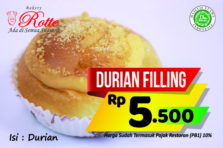 Durian Filling Rotte Bakery